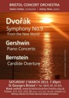 Flyer thumbnail for Dvorak New World, Gershwin Piano Concerto & Bernstein: Bristol Concert Orchestra, Ashley Wass