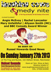 Flyer thumbnail for Laughing Cows Comedy In Manchester: Angela Barnes, Angie McEvoy, Allyson June Smith