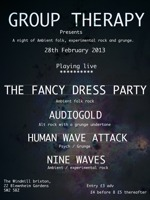 Flyer thumbnail for Group Therapy Presents...: Audiogold + Human Wave Attack + Mohit + Nine Waves