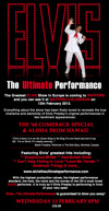 Flyer thumbnail for Elvis: The Ultimate Performance: Chris Connor