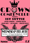 Flyer thumbnail for Crown Comedyclub Blackheath: Isy Suttie, Javier Jarquin, Leo Kearse, Wouter Meijs, Darren Walsh, Adam Hess