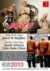 Flyer thumbnail for Narberth A Cappella Voice Festival - South African Male Zulu Choir + Silver Tongue Trio