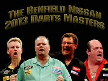 Benfield Nissan Darts Masters 2013: James Wade, Simon Whitlock, Raymond Van Barnevald, Ted Hankey picture