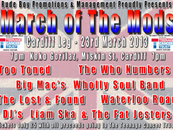 March Of The Mods: Big Mac's Wholly Soul Band + Too Toned + The Who Numbers + Waterloo Road + Lost & Found + Dj Liam Ska + The Fat Jesters Dj`s + David Luker picture