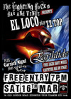 Flyer thumbnail for Live In Kingston: EL LOCO play ZZ TOP