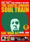 Flyer thumbnail for The South London Soul Train: Jazzheadchronic