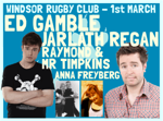 Flyer thumbnail for Laughing Coyote: Ed Gamble, Jarlath Regan, The Raymond And Mr Timpkins Revue, Anna Freyberg