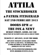 Flyer thumbnail for Attila The Stockbroker + Patrik Fitzgerald