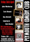 Flyer thumbnail for Plymouth Comedy Club: John Warburton, Scott Bennett, Dan Mitchell, Chris Brooker
