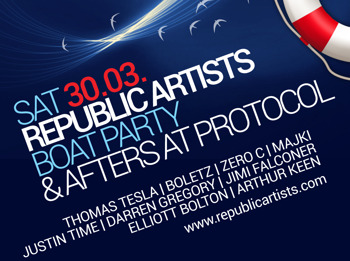 Republic Artists Boat Party & Afters At Protocol: Tomasuchy + Arthur Keen + Justin Time picture