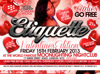 Etiquette Ladies Go Free - The Valentines Party: DJ L + Celebrity Supa + Big Business + Chino Money + Entertainment Family picture