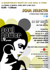 Flyer thumbnail for Soul Power: Soul Selecta + Nicky Prince