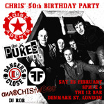 Flyer thumbnail for Chris' Birthday Party: Noise Agents + The pUKEs + Danger's Close + Freedom Faction