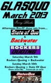 Flyer thumbnail for Glasquo 2013 Day One: Backwater (Status Quo Tribute) + Rockers Quoing