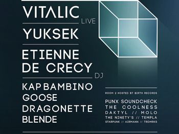 The Playground Presents: Vitalic + Yuksek + Etienne De Crecy + Kap Bambino + Goose + Punx Soundcheck + The Coolness + Dragonette + Blende + Daktyl + The Ninety's + Molo + Templa + Airmann picture