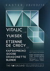 Flyer thumbnail for The Playground Presents: Vitalic + Yuksek + Etienne De Crecy + Kap Bambino + Goose + Punx Soundcheck + The Coolness + Dragonette + Blende + Daktyl + The Ninety's + Molo + Templa + Airmann