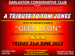 Flyer thumbnail for Tribute To Tom Jones: Glen Leon