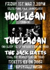 Flyer thumbnail for Celtic Punk Folk Soundclash: Hooligan + The Lagan + The Jack Ratts