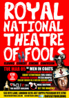 Flyer thumbnail for The Royal National Theatre Of Fools: The Men In Coats, Lindsay Sharman, evil kinell, peter hoopal, mike raffone