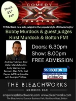 Flyer thumbnail for Comedy X Factor: Lee Tommo, Bobby Murdock
