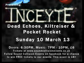 Sound Collision At Studio 24: Inceyte + Dead Echoes + Kiltreiser + Pocket Rocket picture