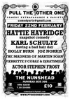 Flyer thumbnail for Hattie Hayridge, Holly Burn, Josiah Norris