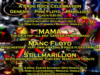 Prog Rock Celebration: Mama: All Era Genesis + Manc Floyd + StillMarillion picture