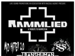 Flyer thumbnail for Rammlied + Mad Hatter 2.0 + Six Sins Till Sunday + Transhuman