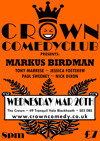 Flyer thumbnail for Crown Comedyclub Blackheath: Markus Birdman, Tony Marrese, Wouter Meijs, Jessica Fostekew, Nick Dixon, Paul Sweeney