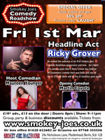 Flyer thumbnail for Smokey Joes Comedy Roadshow: Ricky Grover, Maureen Younger, Martin Coyote