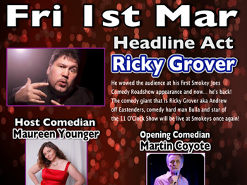 Smokey Joes Comedy Roadshow: Ricky Grover, Maureen Younger, Martin Coyote picture