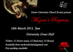 Flyer thumbnail for Mozart's Requiem: Exeter University Choral Society