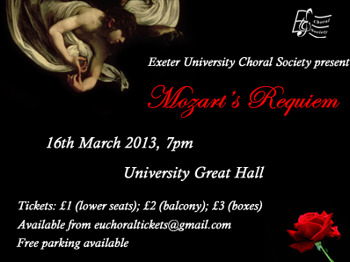 Mozart's Requiem: Exeter University Choral Society picture
