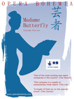 Flyer thumbnail for Madame Butterfly: Opera Bohemia, Catriona Clark