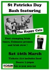 Flyer thumbnail for St Patricks Day Bash: The Happy Cats