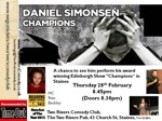 Flyer thumbnail for Champions: Daniel Simonsen, Maxine Jones, Pete Beckley
