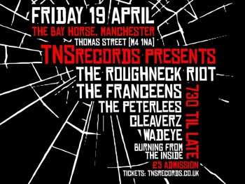 TNS Records Presents: The Roughneck Riot + The Franceens + The Peterlees + Cleavers + Wadeye + Burning From The Inside picture