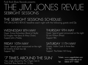 Sebright Sessions: The Jim Jones Revue + Special Guest To Be Announced On The Night + DJ Scratchy + Support To Be Confirmed picture