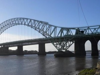 Silver Jubilee Bridge Zip Slide For Cystic Fibrosis picture
