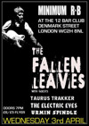 Flyer thumbnail for London Callin Presents Minimum R & B: The Fallen Leaves + J.D. Smith + Taurus Trakker + The Electric Eyes + Urmin Spindle