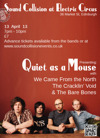 Flyer thumbnail for Sound Collision: The Bare Bones + The Cracklin' Void + We Came From the North + Quiet as a Mouse