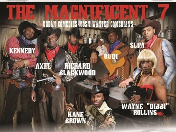 The Magnificent 7: Danny 'Slim' Gray, Kane Brown, Richard Blackwood, Axel, Rudi Lickwood, Wayne 'Dibbi' Rollins picture