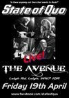 Flyer thumbnail for State Of Quo - Live At The Avenue, Leigh: State Of Quo