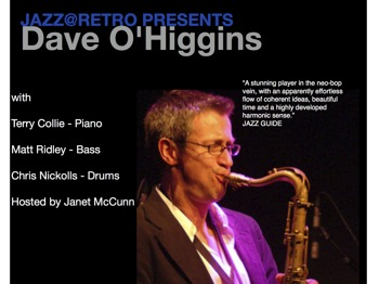 Jazz @retro Bistro: Dave O'Higgins + Terry Collie picture