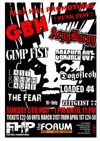 Flyer thumbnail for Flat Hill Promotions: GBH + Argy Bargy + Loaded 44 + Gimp Fist + The Fear + Crashed Out + Dogsflesh + LRC + Zeitgeist 77