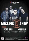 Flyer thumbnail for The Live Room: Missing Andy + Port Erin + Manners