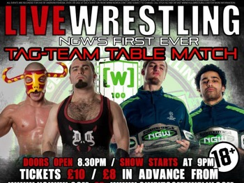 Live Wrestling Show Brought To You By NGW / Wolfpack Preshow / Tag Team Table Main Event  picture