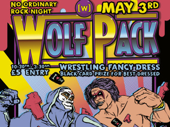 Wolfpack Wrestling Fancy Dress - Black Card For Best Dressed picture