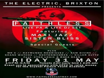 The Electric Brixton Presents: Faithless + Raymundo Rodriguez + Mr C picture