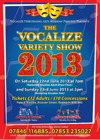 Flyer thumbnail for Vocalize Variety Show 2013